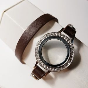 Origami Owl Brown wrap with locket